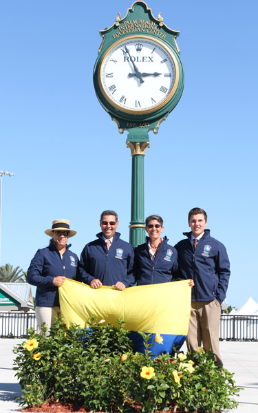 The team from Colombia, the sole representative of Lati America. © 2014 Ken Braddick/dressage-news.com