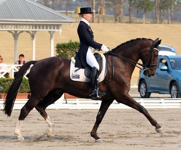 Caroline Wagner and Tango V. © Ilse Schwarz/dressage-news.com