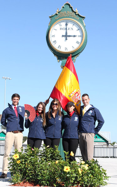 Spain's team that includes two teenagers, Juan Matute, Jr. and his sister, Paula. © 2014 Ken Braddick/dressage-nes.co