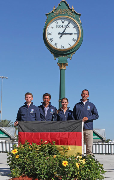 The first German team in the Wellington Nations Cup. © 214 Ken Braddick/dressage-news.com