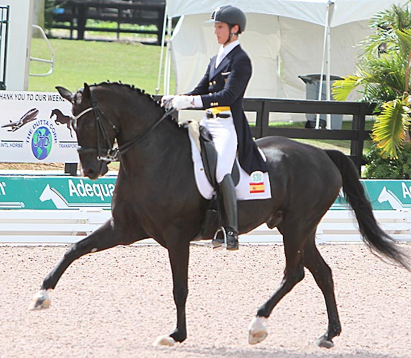 Juan Matute, Jr. riding Dhannie Ymas in the CDI Junior Rider division. © 2014 Ken Braddick/dressage-news.com