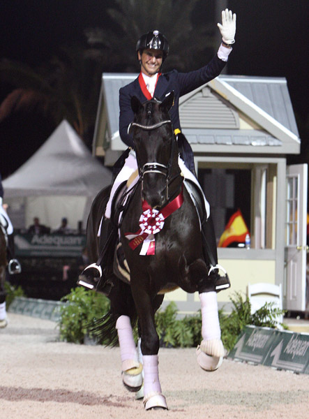 Juan Matute, Jr. and Don Diego Ymas enjoying the moment. © 2014 Ken Braddik/dressage-nes.com