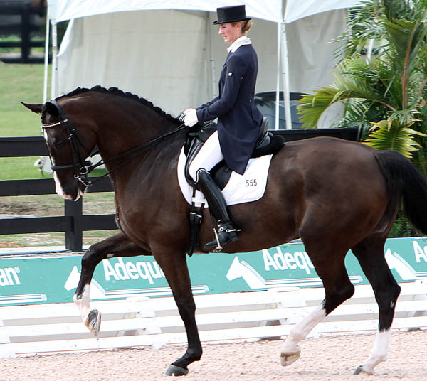 Kelly Layne and Udon P. © 2014 Ken Braddick/dressage-news.com