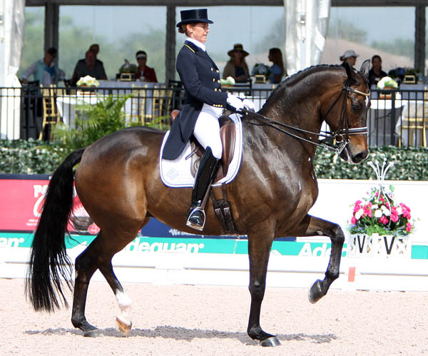 Tinne Vilhelmsson-Silfvén and Don Auriello. © 2014 Ken Braddick/dressage-news.com