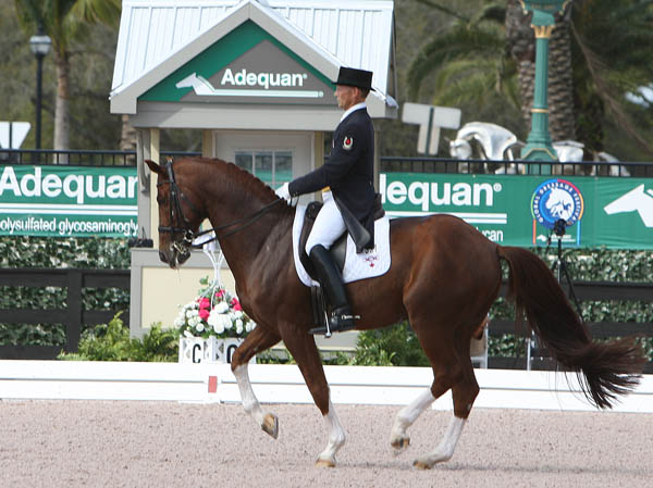 Tom Dvorak and Viva's Salieri W in the Adequan Global Dressage Festival CDI3* Grand Prix. © 2014 Ken Braddick/dressage-news.com