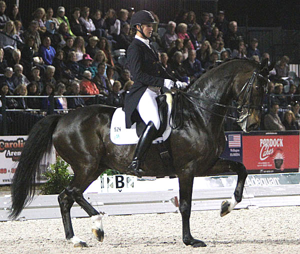 Adrienne Lyle and Wizard in the 2014 Adequan Global Dressage Festival. © 2014 Ken Braddick/dressage-news.com