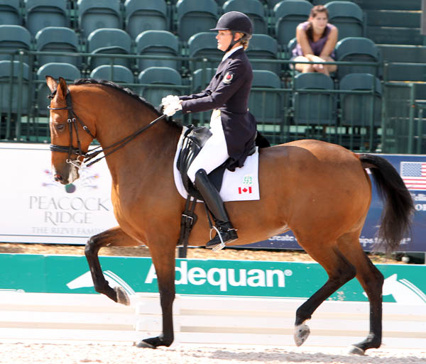 Ashley Holzer and Tiva Nana riding in the Global Dressage Festival CDI-W Grand Prix Special. © 2014 Ken Braddick/dressage-news.com