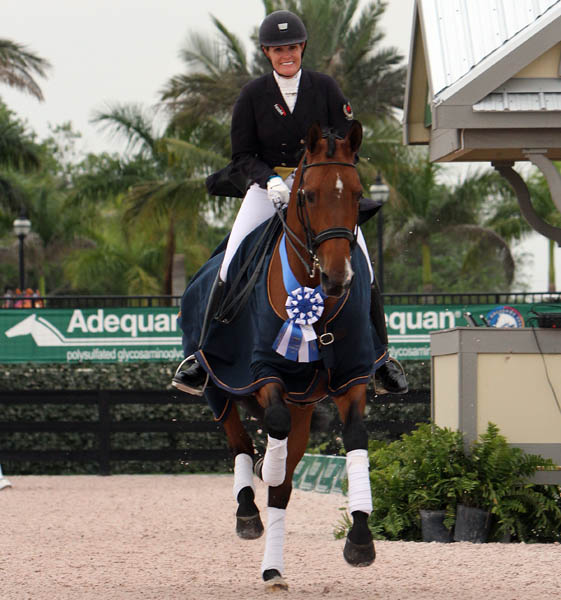 Ashley Holzer and Tiva Nana. © 2014 Ken Braddick/dressage-news.com