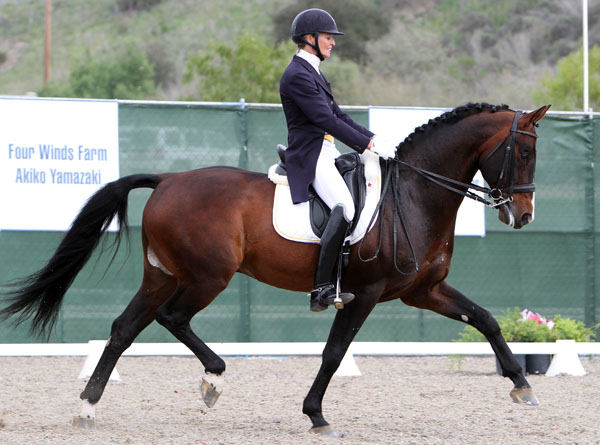 Charlotte Jorst and Ninetendo making their debut at CDI Grand Prix. © 2014 Ken Braddick/dressage-news.com