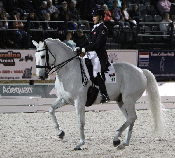 Canada's Jacqueline Brooks and D Niro. © Ken Braddick/dressage-news.com