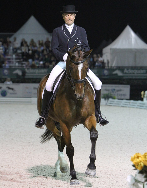 Lars Petersen and Mariett in the Wellington CDI5*, the last competition on their schedue before heading to the World Cup Final in Lyon France next month. © 2014 Ken Braddick/dressage-news.com