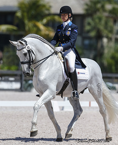 Lourdes Ariza and Naval Banamex competing in the Prix St. Georges for adult amateurs at the Adequan Global Dressage Festival in Welington, Florida. © 2014 SusanJStickle.com
