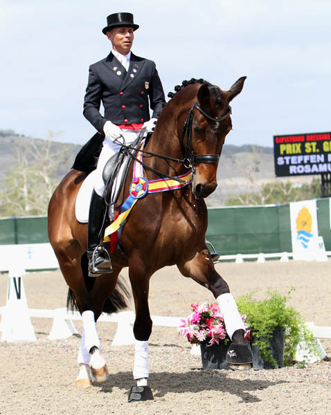 Rosamunde ridden by Steffen Peters in the CDI Prix St. Georges at the Capistrano International Dressage. © 2014 Ken Braddick/dressge-news.com