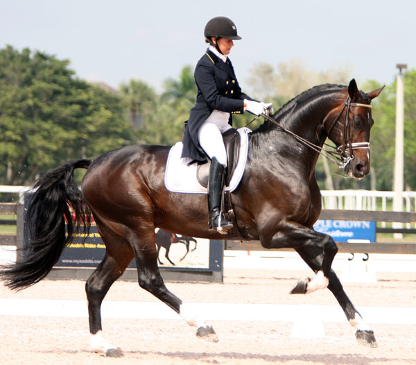 Tinne Vilhelmsson-Silfvén and Benetton Dream. © 2014 Ken Braddick/dressage-news.com