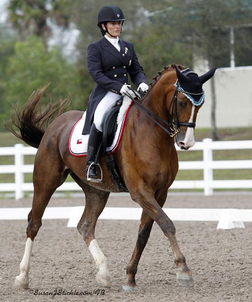 Virginia Yarur of Chile preparing for Pan American Games. ©SusanJStickle.com