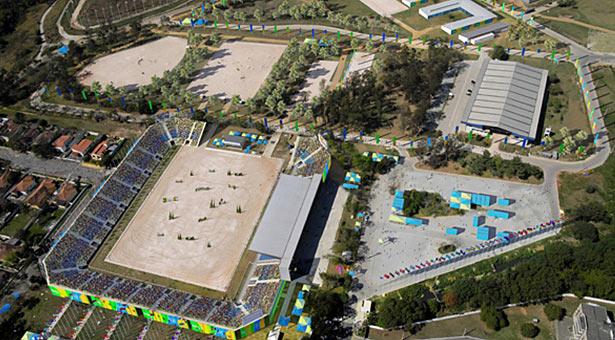 The Rio de Janeiro Olympic equestrian venue.