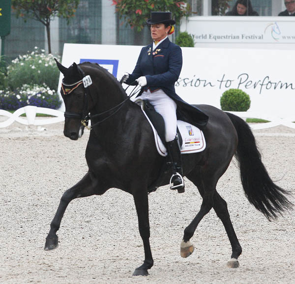 Belgium's Claudia Fassaert and Donnerfee. © Ken Braddick/dressage-news.com