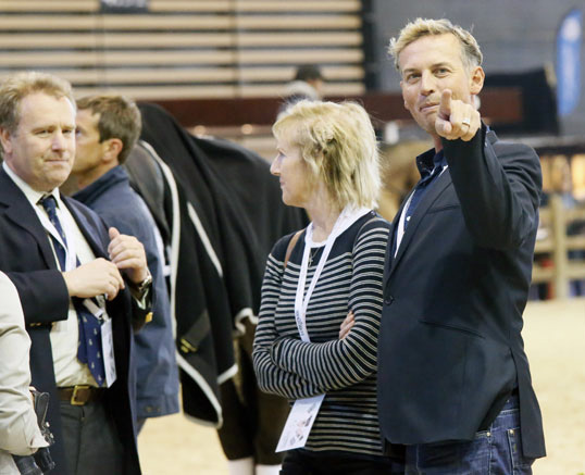 An obviously happy Carl Hester, coach and mentor of Charlotte Dujardin and part owner of Valegro. © 2014 Jenny Abrahamsson/WorldofShowJumping.com