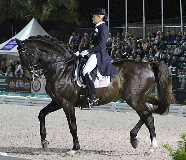 Tina Konyot and Calecto V competing at the Adequan Global Dressage Festival in Wellington. © 2014 Ken Braddick/dressage-news.com