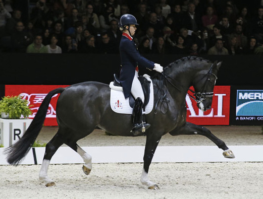 Valegro's showing off extended trot in the new Freestyle. © 2014 Jenny Abrahamsson/WorldofShowJumping.com