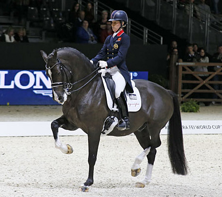 Charlotte Dujardin and Valegro in the World Cup Grand Prix. © 2014 Jenny Abrahamsson/WorldofShowJumping.com