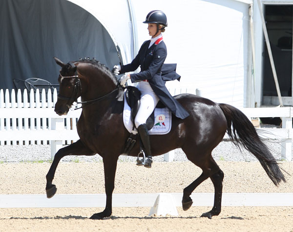 Caroline Roffman and Her Highness O at Kentucky. © 2014  Ken Braddick/dressage-news.com