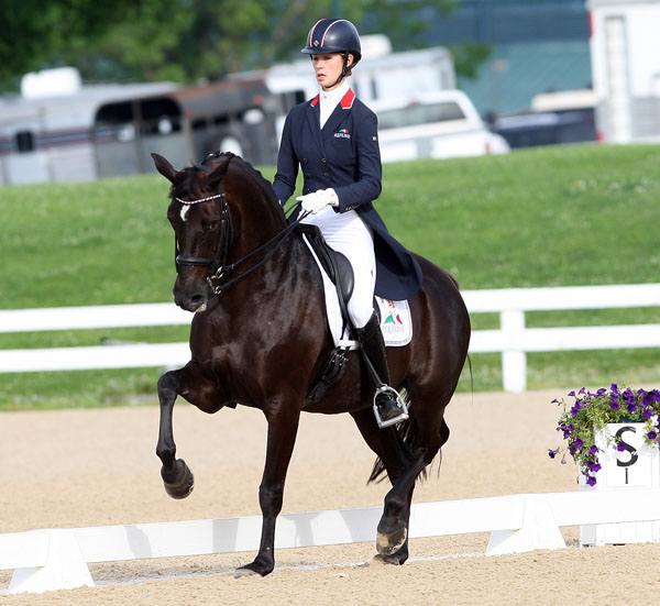 Caroline Roffman and Her Highness O in the Grand Prix Special. © 2014 Ken Braddick/dressage-news.com