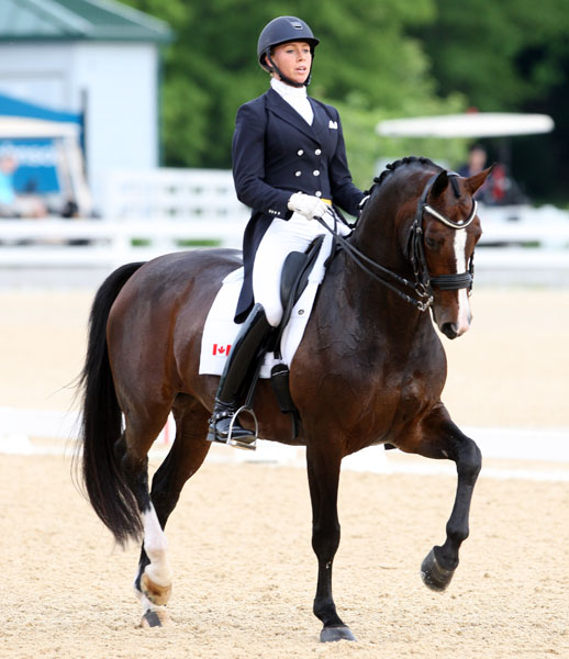 Megan Lane on Caravella. © 2014 Ken Braddick/dressage-news.com