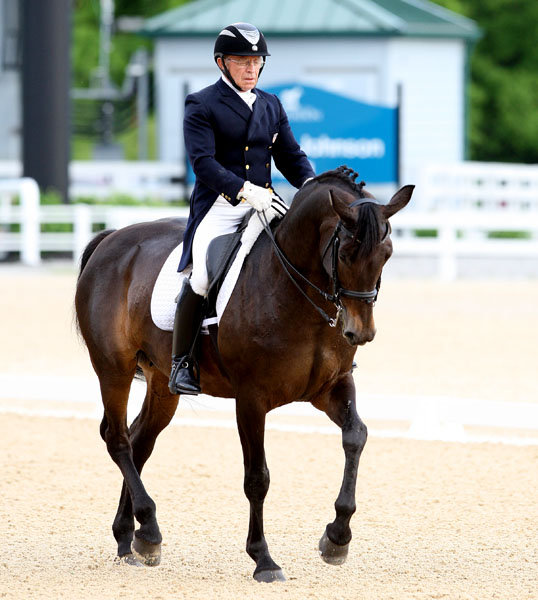 Michael Poulin riding Flair at the Kentucky CDI3*. © 201 Ken Braddick/dressage-news.com
