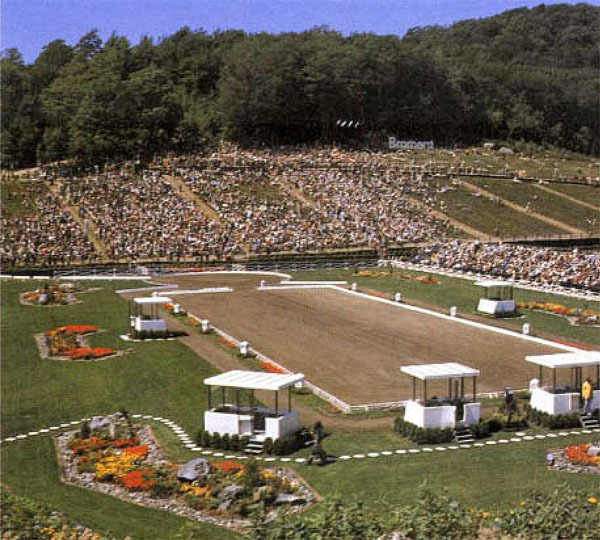 The 1976 Olympic dressage venue at Bromont.