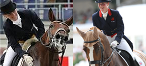 Anna Paprocka Campanella (left) and Laura Tomlinson who ran for election as the athlete representative on the FEI Dressage Committee.