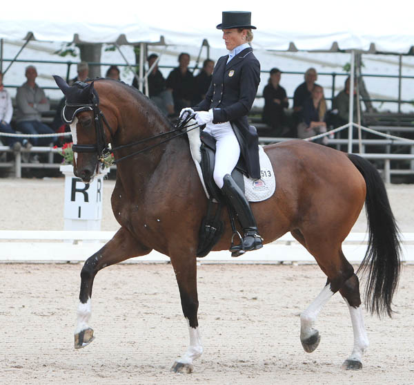 "Arlene ""Tuny"" Page and Alina in the US Championship Grand Prix. © 2014 Ken Braddick/dressage-news.com"