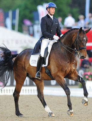 Carl Hester and Nip Tuck.
