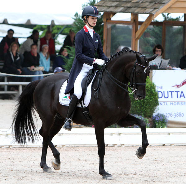 Caroline Roffman and Her Highness O. © 2014 Ken Braddick/dressage-news.com