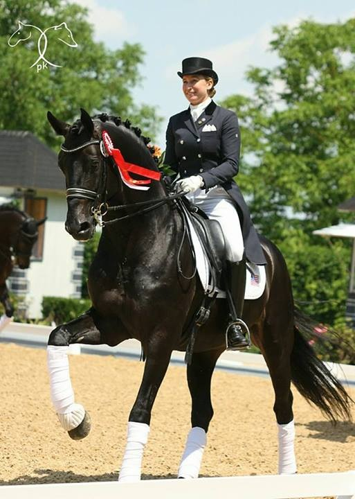 Jennifer Hoffmann on Rubionio making their debut at Grand Prix at Achleiten, Austria CDI4*.