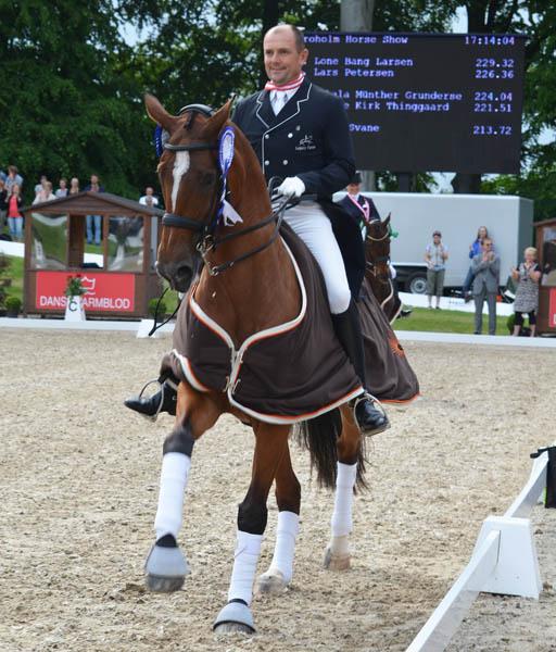 Lars Petersen on Mariett in the honor round at the Danish Championshps. © 2014 Claudia Gundersen
