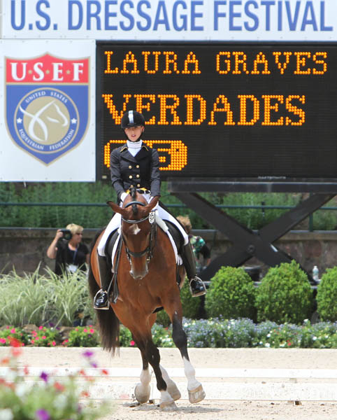 Laura Graves and Verdades. © 2014 Ken Braddick/dressage-news.com