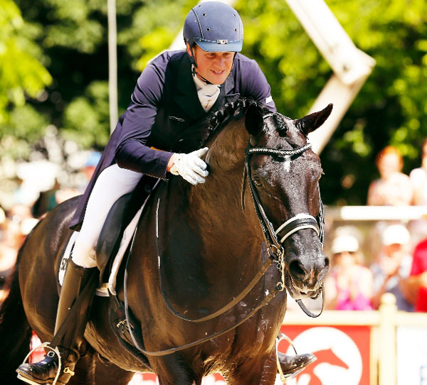 Matthias Alexander Rath and Totilas at Wiesbaden. Courtesy WRFC Toffi
