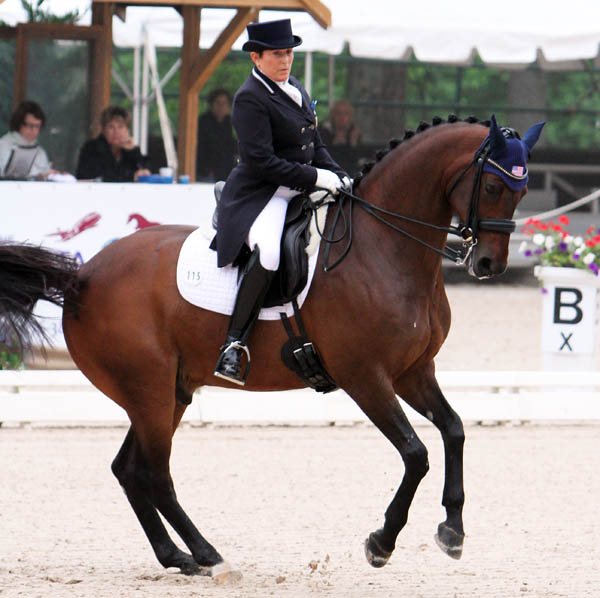 Shelly Francis and Doktor. © 2014 Ken Braddick/dressage-news.com