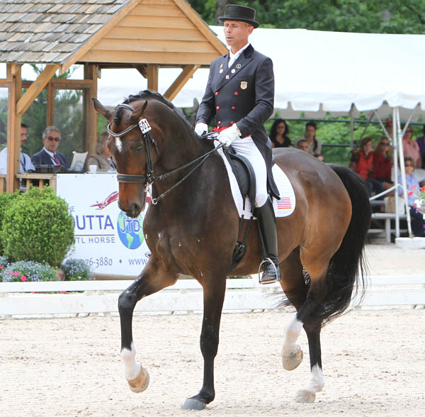 Steffen Peters and Ravel completing the US Championship Grand Prix Special. © 2014 Ken Braddick/dressage-news.com