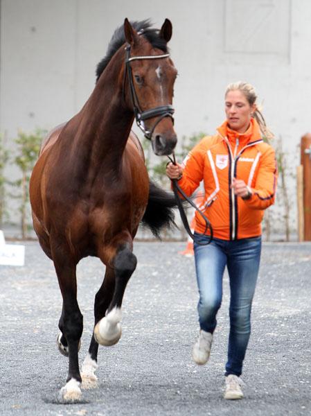 Adelinde Cornelissen and Zephyr. © 2014 Ken Braddick/dressage-news.com