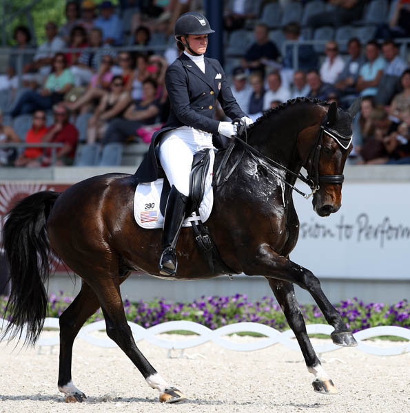 Adrienne Lyle and Wizard in the Aachen CDIO5* Nations Cup. © 2014 Ken Braddick/dressage-news.com