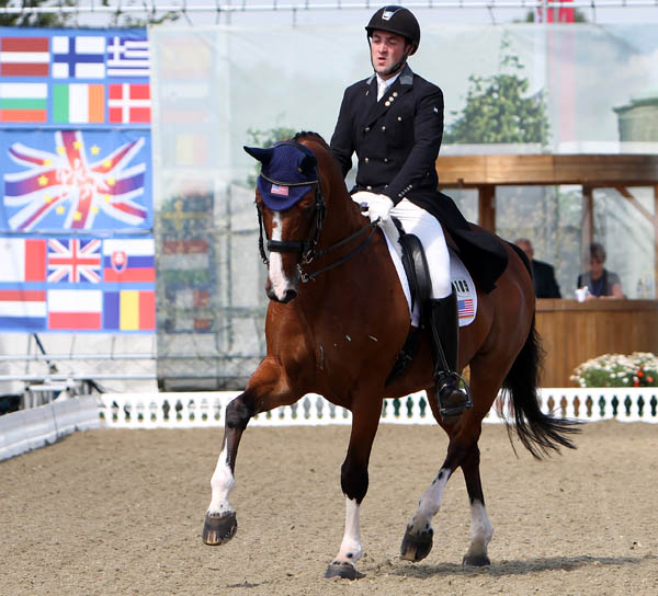 Brian Hafner on Lombardo LHF competing in the Nations Cup at Hickstead, England. © 2014 Kn Braddick/dressage-news.com