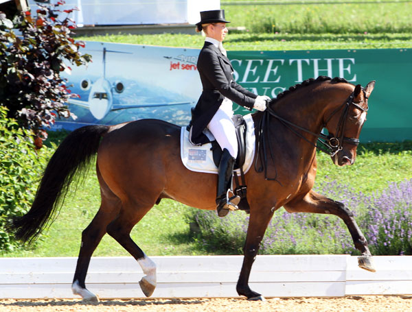 Briana Burgess and La Scala competing. © 2014 Ken Braddick/dressage-news.com