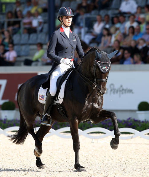 Caroline Roffman and Her Highness O riding in the CDIO5* Nations Cup at Aachen. © 2014 Ken Braddick/dressage-news.com