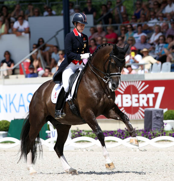 Charlotte Dujardin on Valegro in the CDIO5* Grand Prix Special in which the British pair placed second. © 2014 Ken Braddick/dressage-news.com