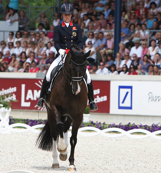 Charlotte Dujardin riding Valegro to victory in the CDIO5* Grand Prix Freestyle. © 2014 Ken Braddick/dressage-news.com