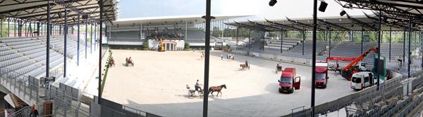Aachen's Deutsche Bank stadium that hosts the single richest dressage event in the world. © Ken Braddick/dressage-news.com