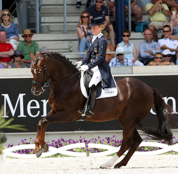 Helen Lanehanenberg on Damon Hill NRW in the CDIO5* Grand Prix Special. © 2014 Ken Braddick/dressage-news.com