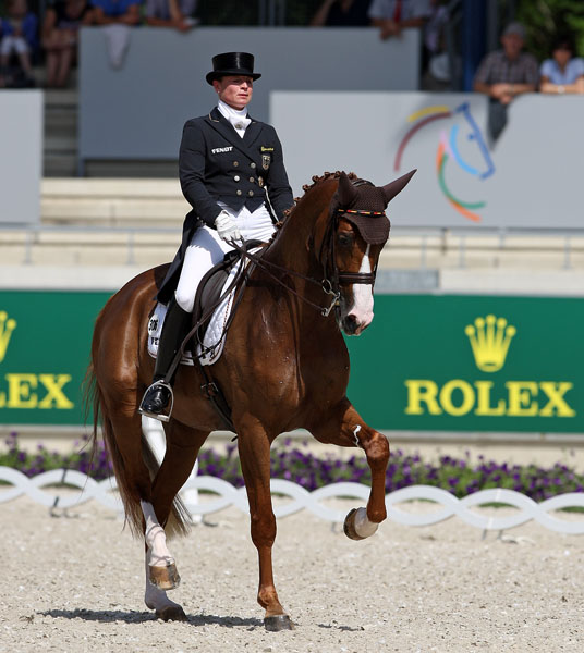 Isabell Werth riding Bella Rose at Aachen, Germany where she has won the Deutsche Bank Prize more than any other rider in 60 years of the event. © 2014 Ken Braddick/dressage-news.com